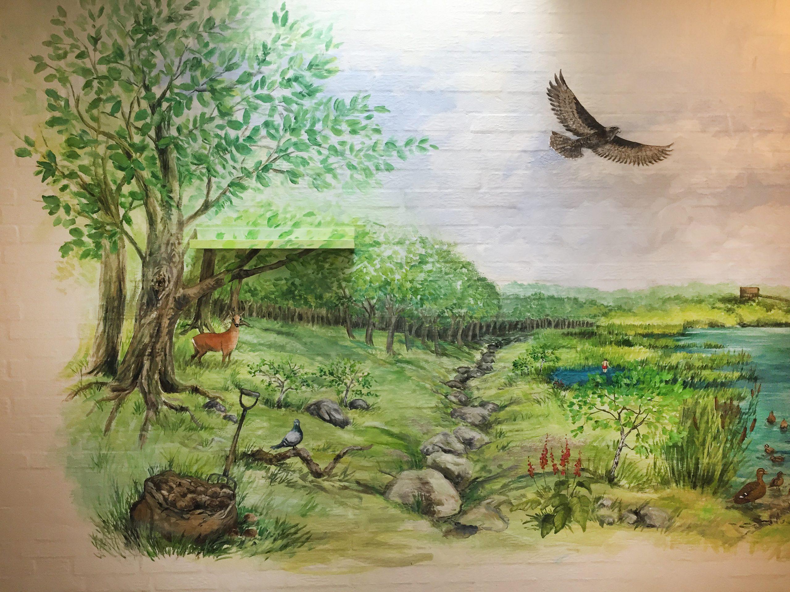 Vægmaleri Aabybro Plejehjem 2