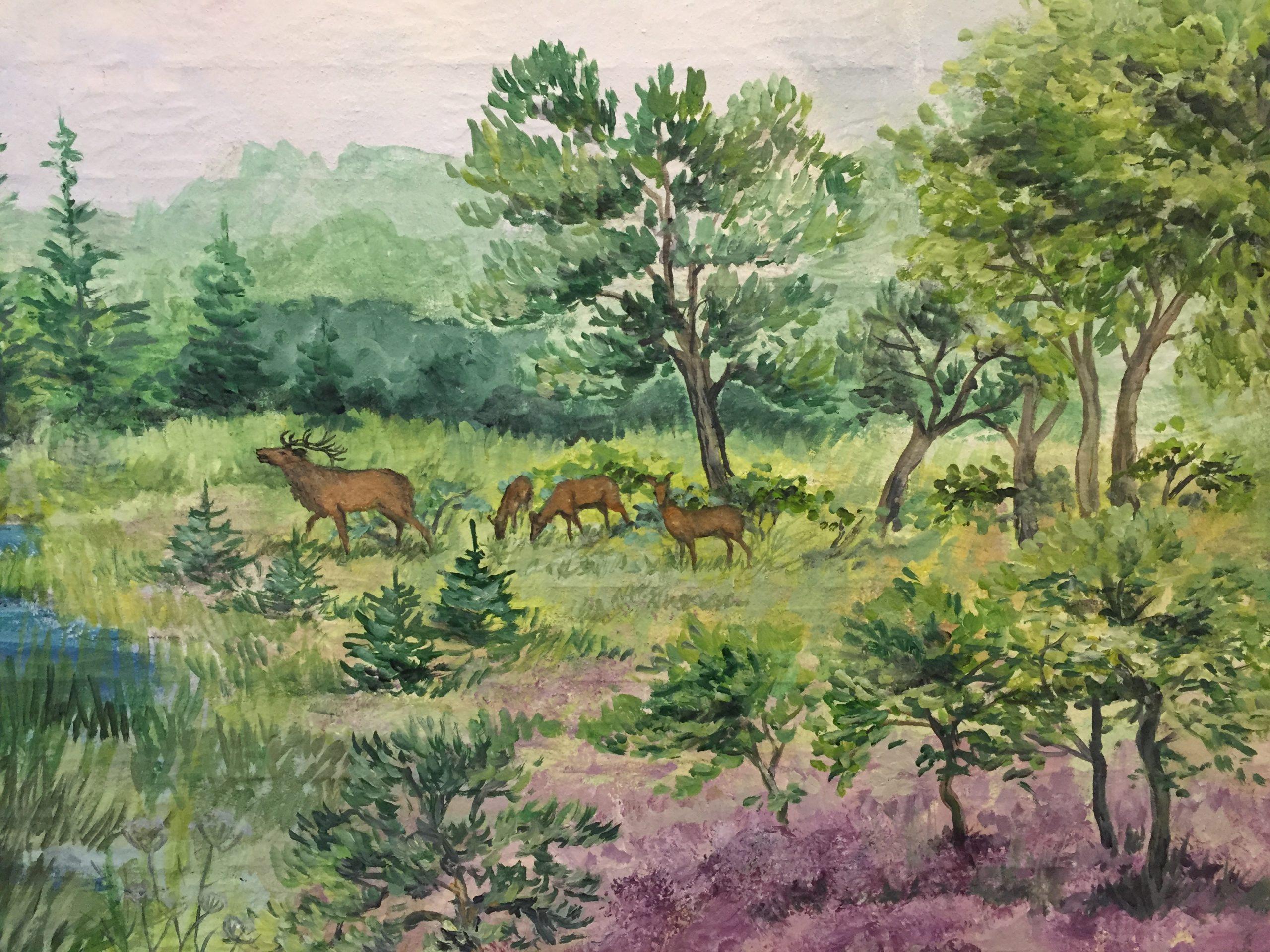 Vægmaleri Aabybro Plejehjem 3
