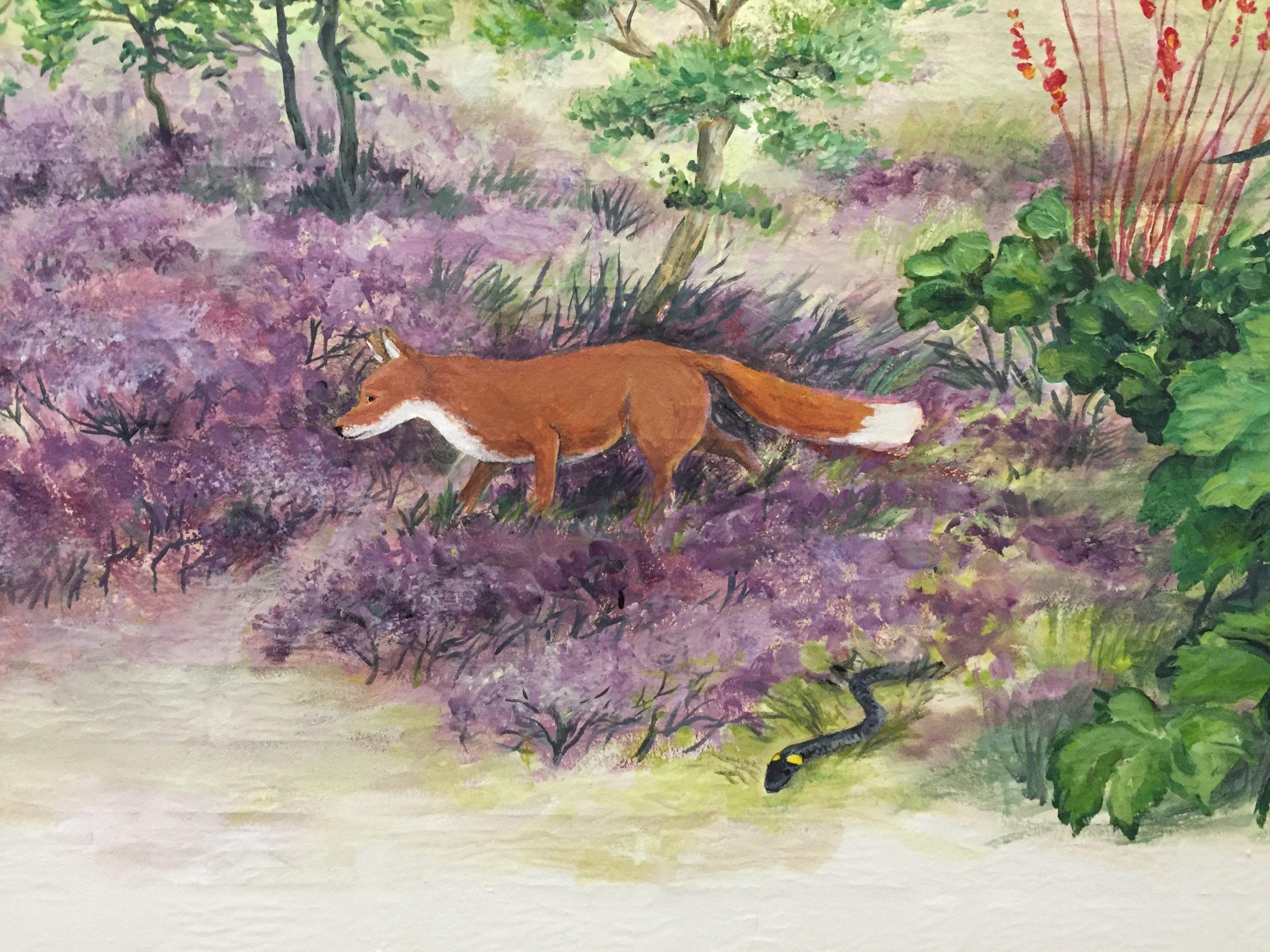 Vægmaleri Aabybro Plejehjem 5