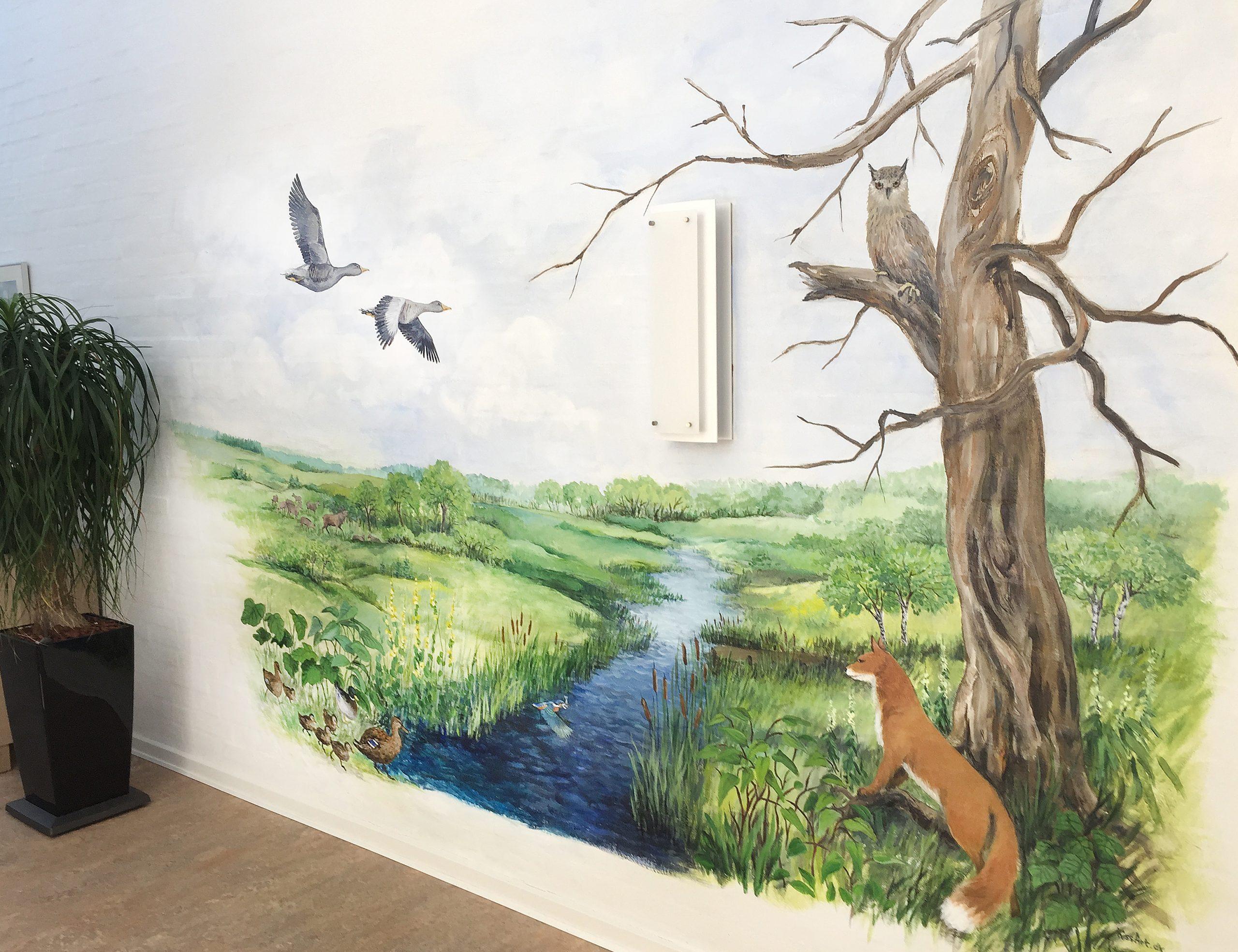 Vægmaleri Store Vildmose på Mou Plejecenter 1
