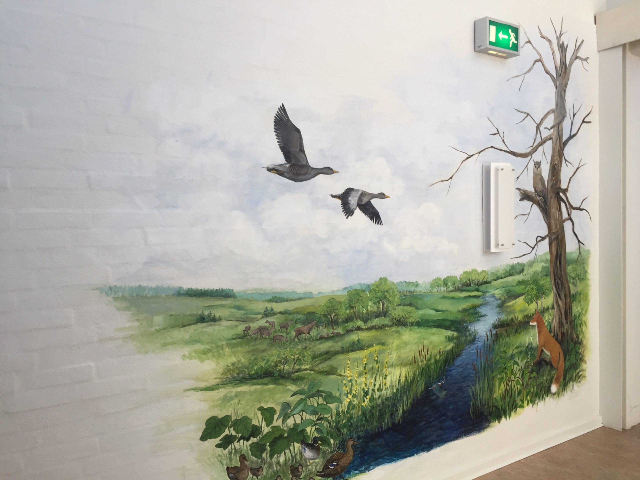 Vægmaleri Store Vildmose på Mou Plejecenter 2