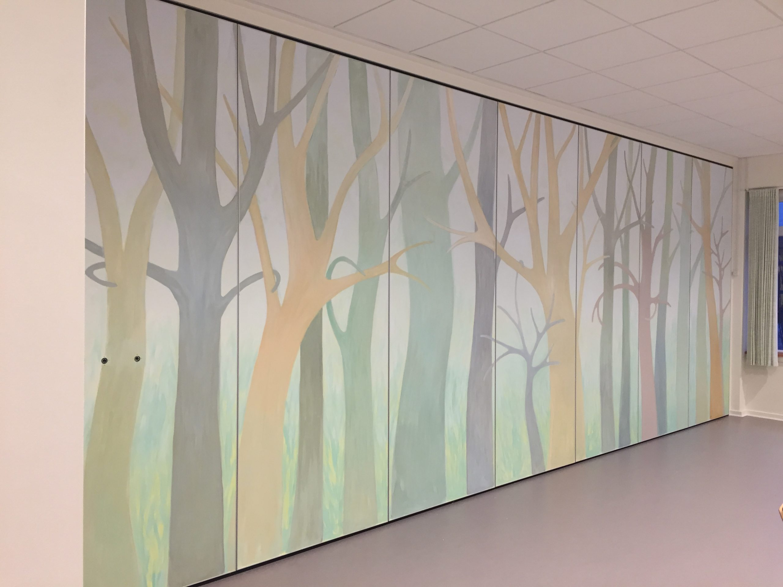 Vægmaleri på Foldevæg Kjellerup Friplejehjem 2