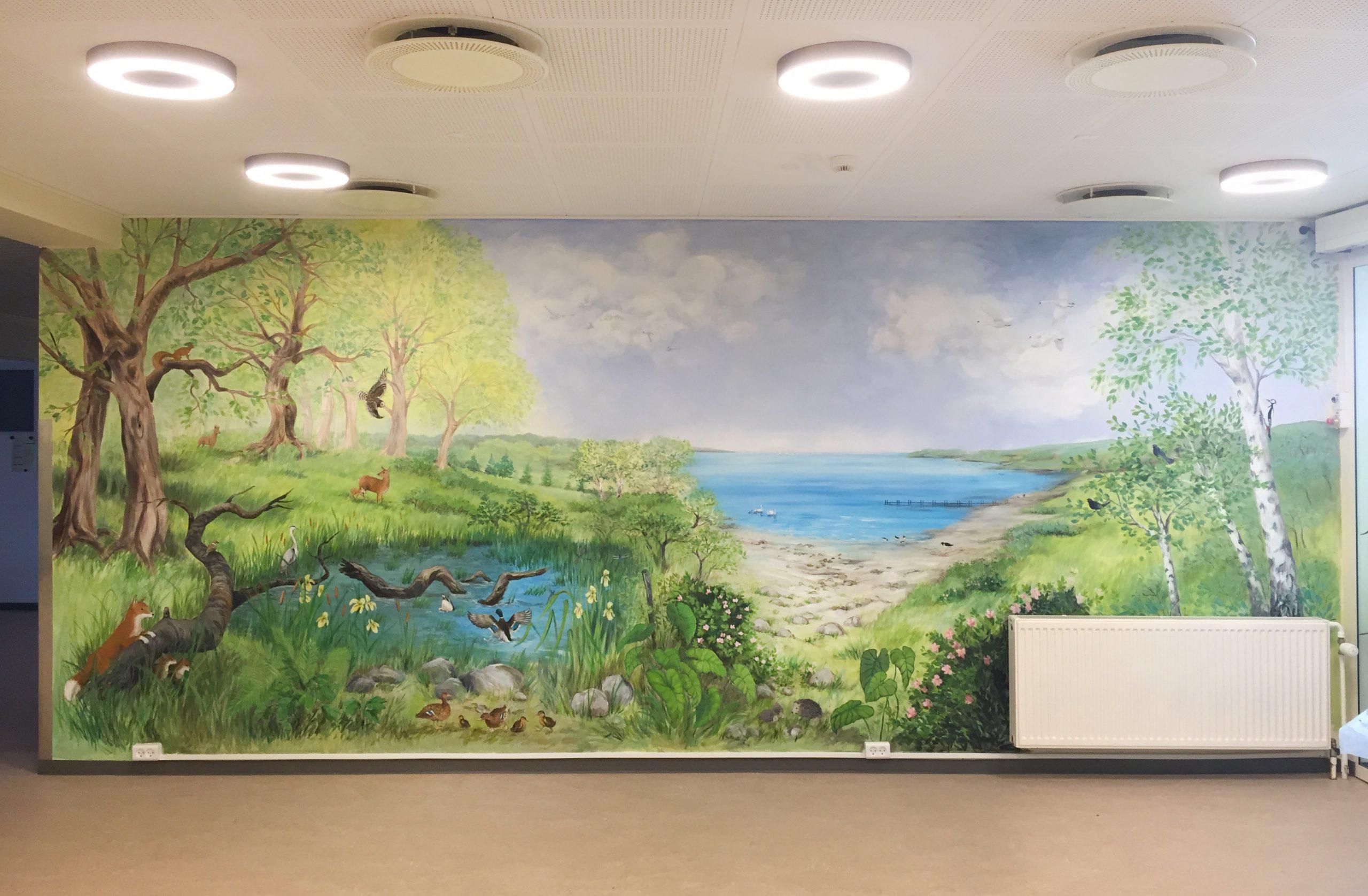 Vægmaleri på Skovbakkehjemmet Skive 1