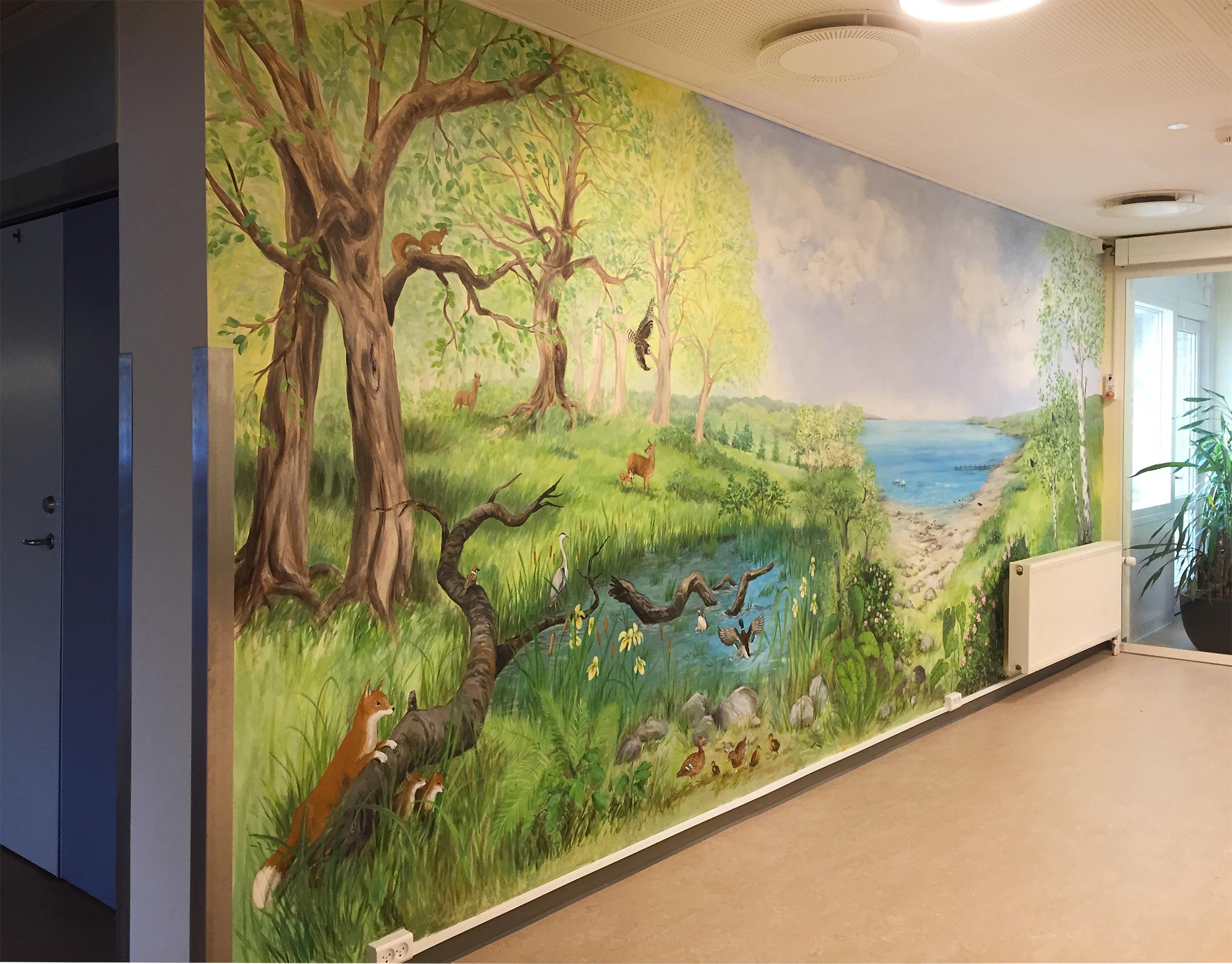 Vægmaleri på Skovbakkehjemmet Skive 2