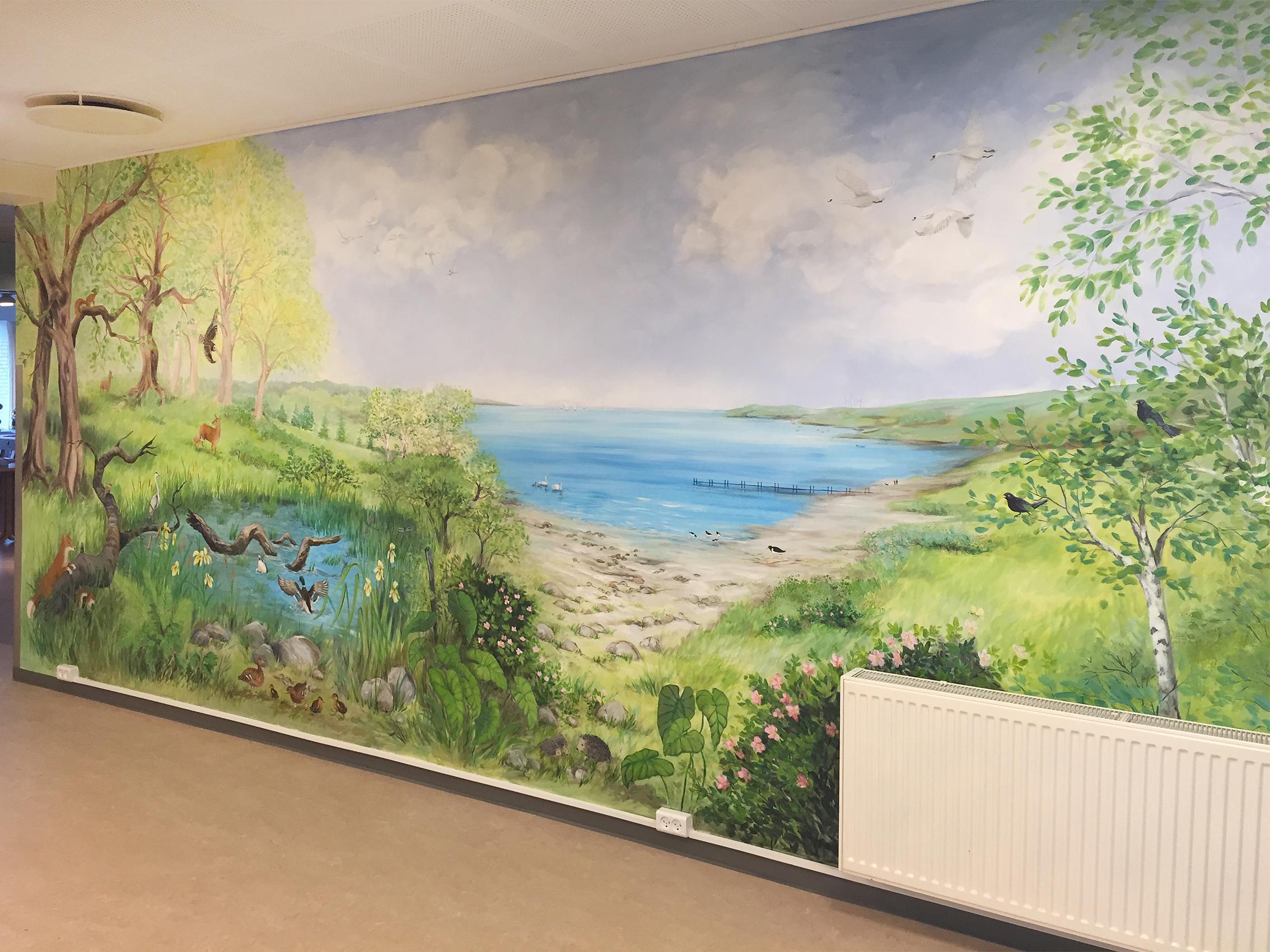 Vægmaleri på Skovbakkehjemmet Skive 3