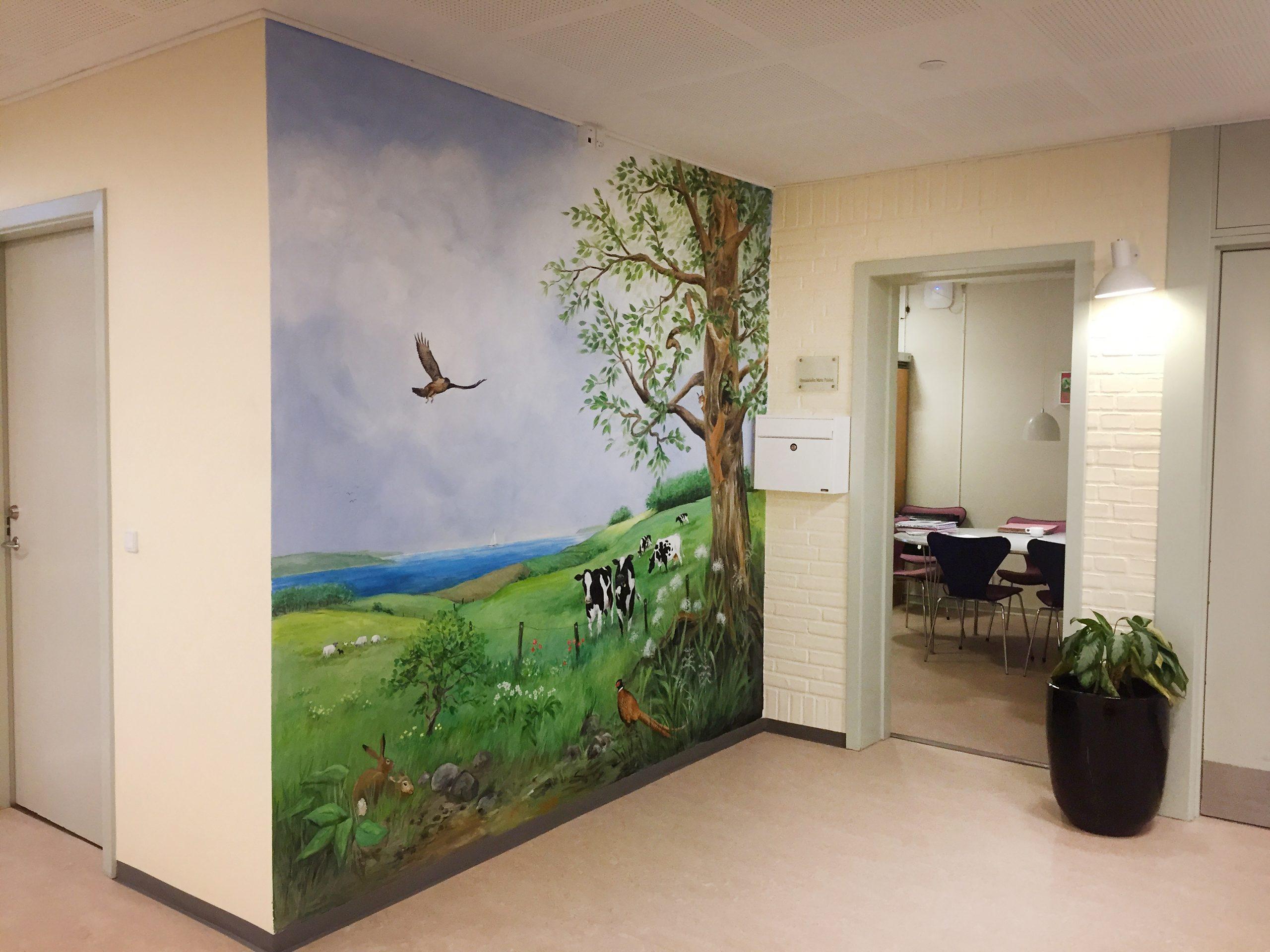 Vægmaleri på Skovbakkehjemmet Skive 5