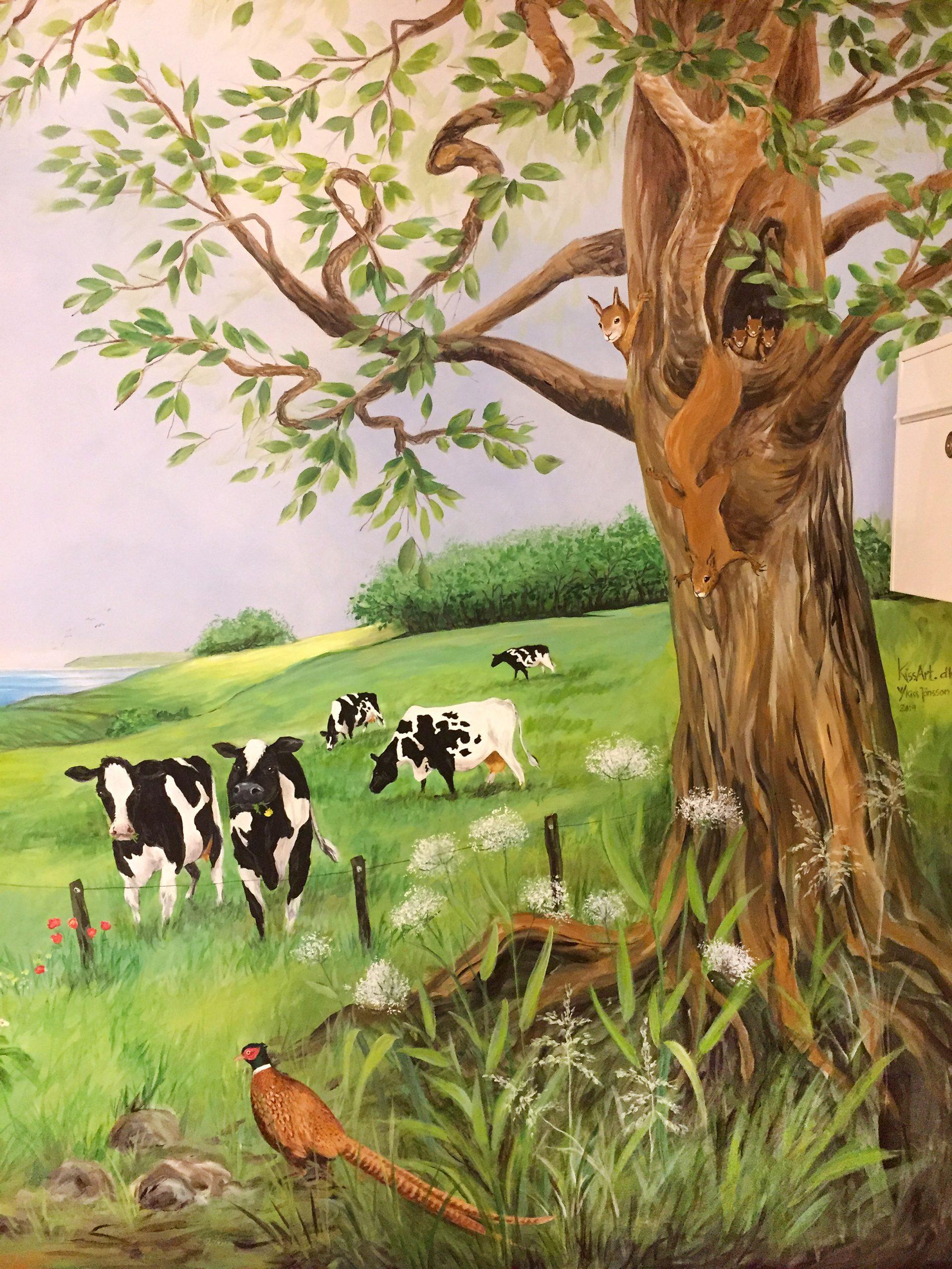 Vægmaleri på Skovbakkehjemmet Skive 6
